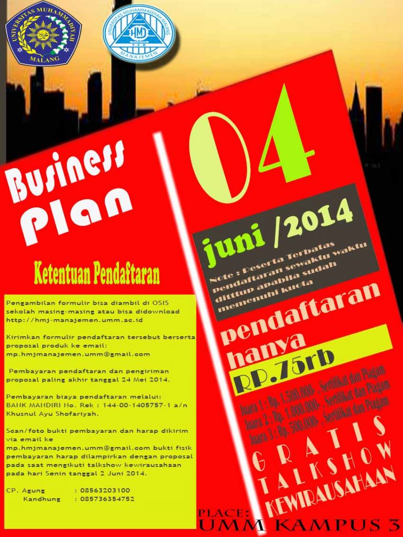 Bisnis Plan Mahapreneur